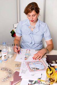 Lola Paltinger bei Ihrer Arbeit im Studio. Foto: Mila Pairan